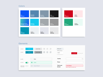 CMS Style Guide ui components ui elements design system user interface design ux design product design web design user interface ui guide style guide