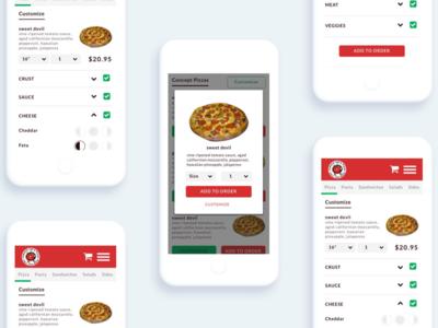 Pizza Online Ordering App product design app redesign redesign design concept user experience design pizza order online ordering application ui user interface app design ux designer ux ui design ui design