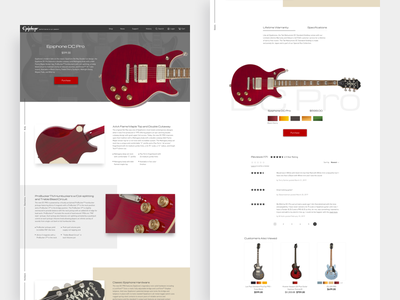 Ecommerce Product Detail Page guitar cool layout ecommerce website design concept web design minimal clean ux ui design ui design ux design product design product page landing page ecommerce landing page product details page product detail ecommerce design ecommerce