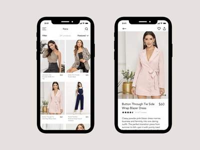 Gemma Mobile App Design design concept ux design ui design user interface simple clean minimal fashion pdp grid ecommerce design ecommerce shop mobile app design ecommerce app mobile app ecommerce
