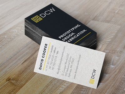 Business Card Design for DCW