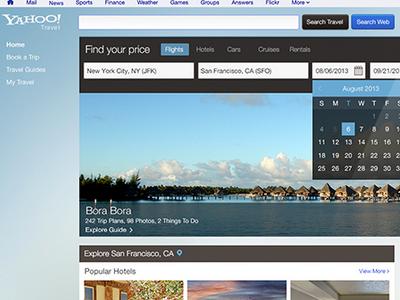 Yahoo Travel travel responsive web