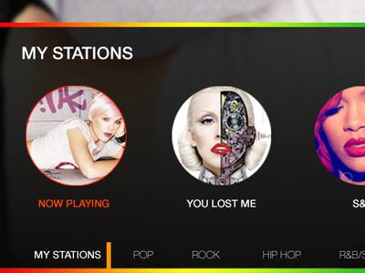 Web Player music rainbow