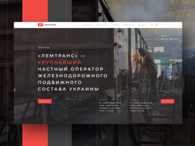 Corporate site for the Lemtrans rail freight company
