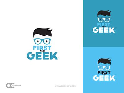FIRST and GEEK Logo logos logo design logotype geek logo firstandgeek geeks geeklogo logo geeky design vector arabic illustration casablanca brand creative anoirchafik marrakech morocco graphic
