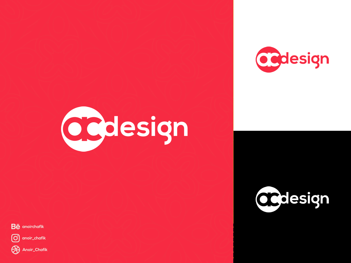 Logo AC Design create new creative logotype design logotype branding brand agency brand art designer design agency design a day design app arabic logo logo alphabet logo a day marrakech morocco designer logo design
