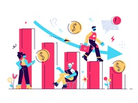 Concept of the new global economic crisis 2020 2019-ncov coronavirus financial 2020 risk economy company recession down bankruptcy crisis business people business people flat character vector design illustration