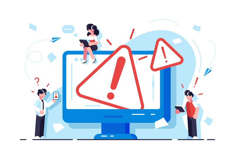 Error page concept site web page mistake danger construction alert 404 not found error error 404 business application people office business people flat character vector design illustration