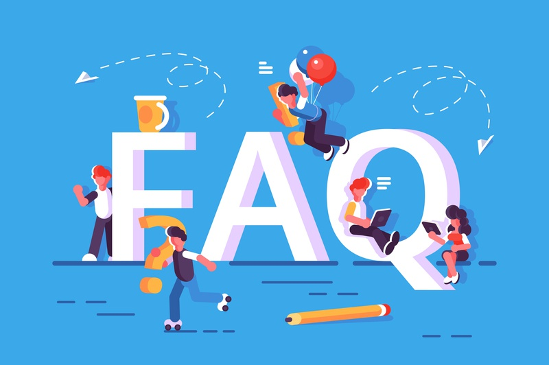 FAQ communication chat answer solution query big letter customer frequently asked questions faq question business team people office business people flat character vector design illustration
