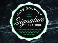 Cape Gourmet Signature Seafood Logo Design