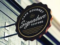Cape Gourmet Signature Seafood Signage
