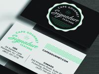 Cape Gourmet Signature Seafood Business Card