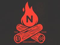 Northink 10 Year Anniversary Logo