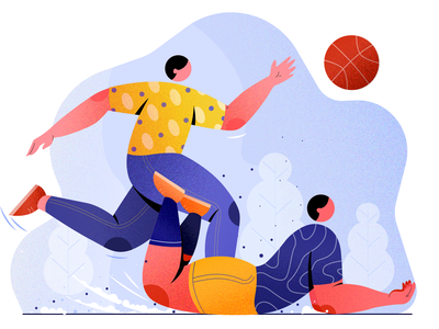The players character design flat vector volleyball vector player design digital concept illustration