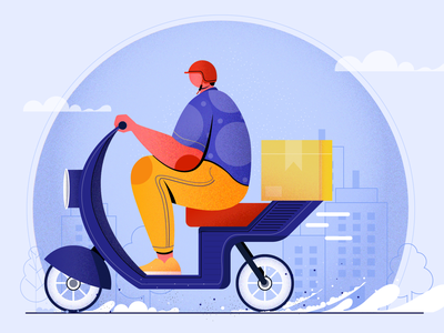 Fast delivery concept character design fast delivery digital vector design flat vector illustration