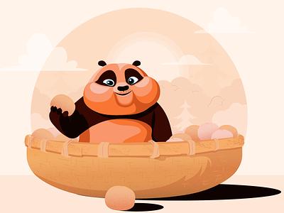 Lil' Panda design digital vector concept character design flat vector illustration