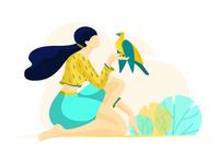 talking to bird
