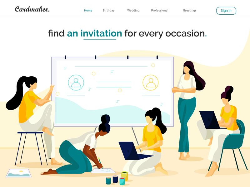 Online Invitation Card By Sushama Patel For Ofspace On Dribbble