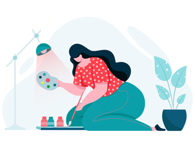 artist colors design digital vector concept character design flat vector illustration