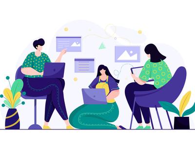 designers working together