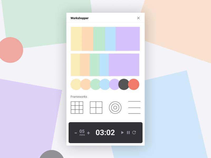 Workshops: a Figma Plugin design minimal timer css figma ux ui brainstorming workshops stickies design thinking design tools