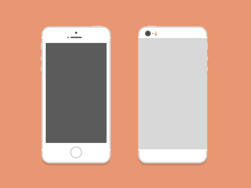 iPhone 5S (PSD) flat psd free freebie illustration iphone 5s ios vector ai mock mockup
