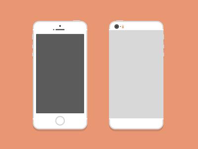iPhone 5S (PSD) flat psd free freebie illustration iphone 5s ios vector ai mock mockup