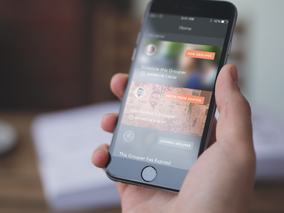 The New Grouper app ui ios iphone social mockup mobile