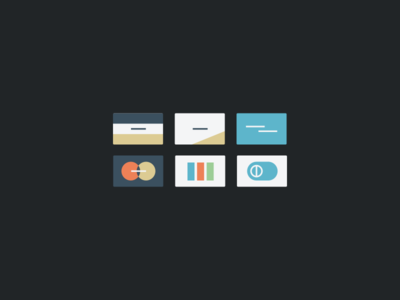 Charge it! ui illustration credit card visa discover amex money flat icon