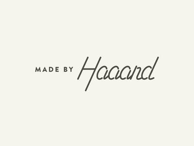 Haaand mark logotype logo haaand hand custom monoline line type