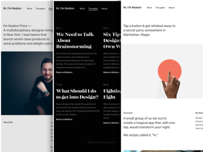 New Year, New Site (Close Up) minimal bio blog case study personal site web website portfolio