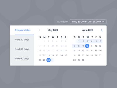 Date range picker ui minimal date selector date picker ui ux web date range