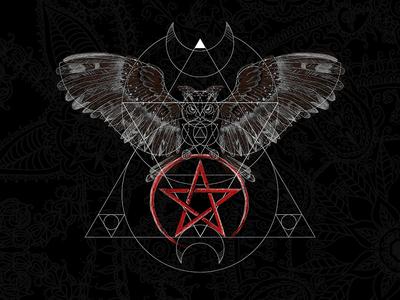 Sacred Geometry Owl