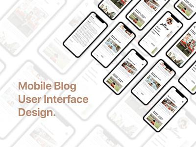 User Interface Design for Website Blog Mobile View blog design blog illustration mobilewebdesign design webdesign ui personal web landing page adobe xd