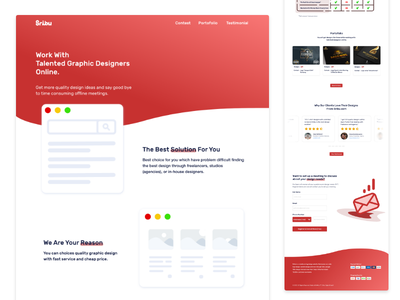Landing Page Website - Unofficially Redesign Sribu Dot Com branding adobexd mobilewebdesign exploration webdevelopment webdesigner illustration graphic design webdesign ui landing page adobe xd
