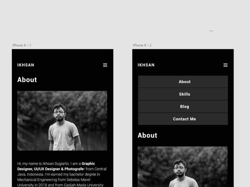 User Interface Portofolio Web Design For iPhone X adobexd graphic design portofolioweb mobilewebdesign webdesign ui  ux design
