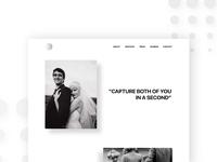Landing Page Web Wedding Photography