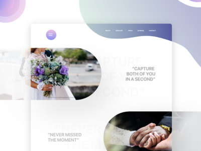 Landing Page Wedding Photography personal web design adobe xd wedding photo graphic  design colorful design ui designer web designer web design ui design challenge ui design landing page wedding photography