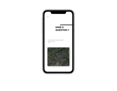 Contact Page UI iPhone X With Mockup personal web ui graphic design webdesign mobilewebdesign landing page design adobe xd