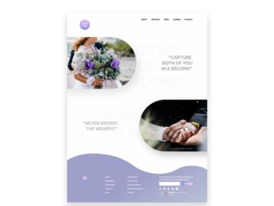 Web Design Wedding Photography web design wedding photography webdesign ui landing page graphic design adobe xd