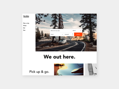 Roadtrip landing page