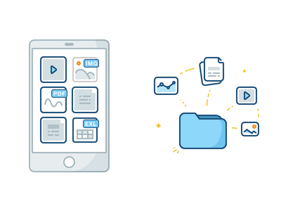 Some Icons for a Customer clean flat mobile folder icon document chatbot bot chat
