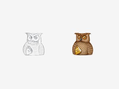 Forum Awards (7) owl wiser expert brown bird book icon award gift virtual gift sketch