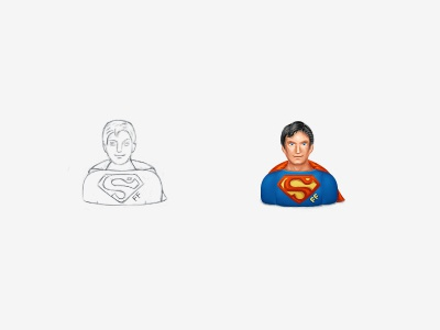 Forum Awards (10) award gift virtual gift superman help helper icon user mascot blue red sketch