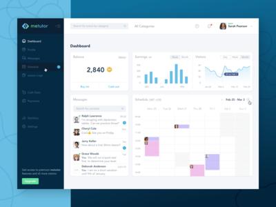 Tutor Dashboard remote work languages teaching freelance marketplace learning education ux ui statistic dashboard web app