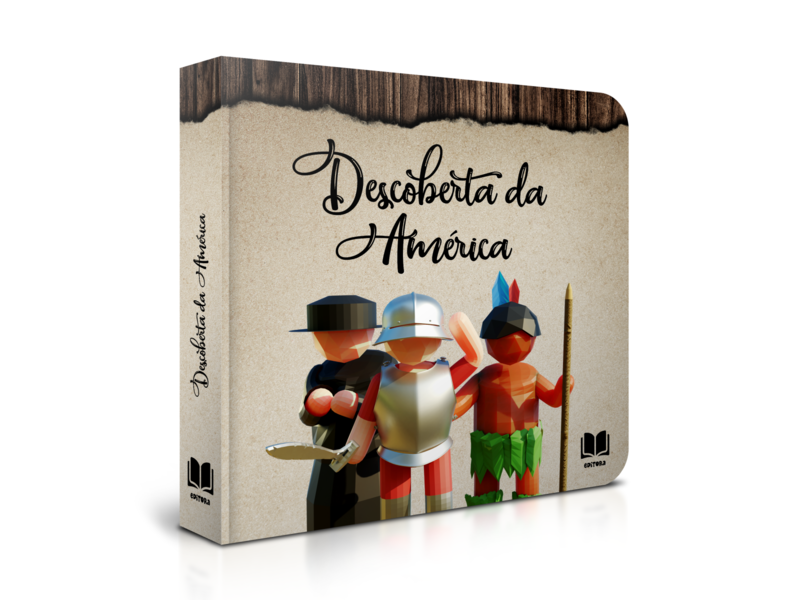 Discovery of America - Children's book #5 graphic game art magazine kids children book editorial low poly design 3d art 3d illustration