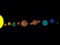 Low Poly Solar system -  3D Illustration