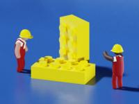 Low Poly Blocs - 3D Illustration #1
