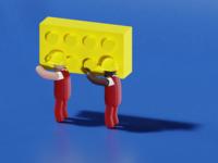 Low Poly Blocs - 3D Illustration #3