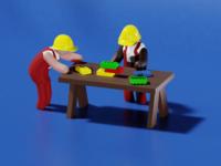 Low Poly Blocs - 3D Illustration #4